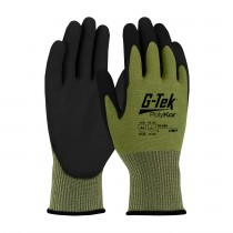 G-Tek® PolyKor® Seamless Knit PolyKor® Blended Glove with Polyurethane Coated Smooth Grip on Palm & Fingers  (#16-665)