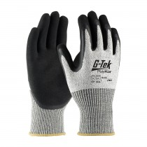 G-Tek® PolyKor® Seamless Knit PolyKor® Blended Glove with Double-Dipped Latex Coated MicroSurface Grip on Palm & Fingers  (#16-815)