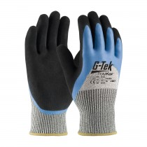 G-Tek® PolyKor® Seamless Knit PolyKor® Blended Glove with Acrylic Lining and Double-Dipped Latex Coated MicroSurface Grip on Palm, Fingers & Knuckles  (#16-820)
