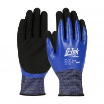 G-Tek® PolyKor® X7™ Seamless Knit PolyKor™ X7™ Blended Glove with Double-Dipped Nitrile Coated MicroSurface Grip on Full Hand - Touchscreen Compatible  (#16-939)