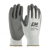 G-Tek® PolyKor® Seamless Knit PolyKor® Blended Glove with Polyurethane Coated Smooth Grip on Palm & Fingers  (#16-D622)