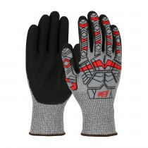 G-Tek® PolyKor® Seamless Knit PolyKor® Blended Glove with Impact Protection and Double-Dipped Nitrile Coated MicroSurface Grip on Palm & Fingers  (#16-MPH430)