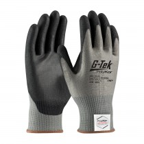 G-Tek® PolyKor® Xrystal® Seamless Knit PolyKor® Xrystal® Blended Glove with Polyurethane Coated Smooth Grip on Palm & Fingers  (#16-X540)