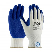 G-Tek® 3GX® Seamless Knit Dyneema® Diamond Blended Glove with Latex Coated Crinkle Grip on Palm & Fingers - Medium Weight  (#19-D313)