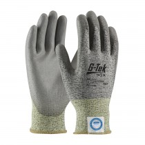 G-Tek® 3GX® Seamless Knit Dyneema® Diamond Blended Glove with Polyurethane Coated Smooth Grip on Palm & Fingers  (#19-D320)