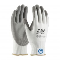 G-Tek® 3GX® Seamless Knit Dyneema® Diamond Blended Glove with Polyurethane Coated Smooth Grip on Palm & Fingers  (#19-D330)