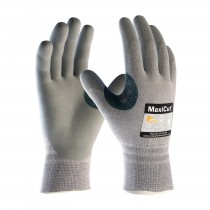 MaxiCut® Seamless Knit Dyneema® / Engineered Yarn Glove with Nitrile Coated MicroFoam Grip on Palm & Fingers  (#19-D470)