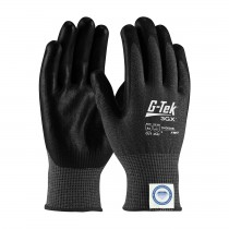 G-Tek® 3GX® Black Seamless Knit Dyneema® Diamond Blended Glove with Nitrile Coated Foam Grip on Palm & Fingers - Touchscreen Compatible  (#19-D534B)
