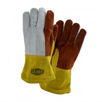 Ironcat® Premium Heavy Split Cowhide Foundry Glove with Cotton Lining and Kevlar® Stitching - Leather Gauntlet Cuff  (#2086GLF)