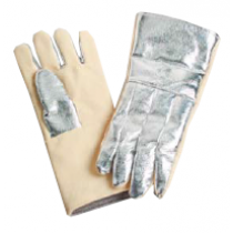 19oz. Aluminized Para Aramid Blend on Back, 22oz. Para Aramid on Front Gloves