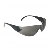 Zenon Z12™ Rimless Safety Glasses with Black Temple, Gray Lens and Anti-Scratch Coating  (#250-01-0001)