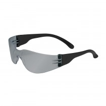 Zenon Z12™ Rimless Safety Glasses with Black Temple, Silver Mirror Lens and Anti-Scratch Coating  (#250-01-0005)