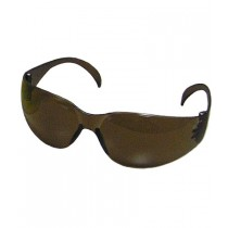 Zenon Z12™ Rimless Safety Glasses with Dark Brown Temple, Dark Brown Lens and Anti-Scratch Coating  (#250-01-5504)