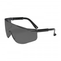 Zenon Z28™ OTG Rimless Safety Glasses with Black Temple, Gray Lens and Anti-Scratch Coating  (#250-03-0001)