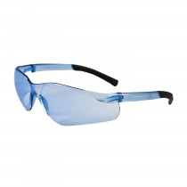 Zenon Z13™ Rimless Safety Glasses with Light Blue Temple, Light Blue Lens and Anti-Scratch Coating  (#250-06-5503)