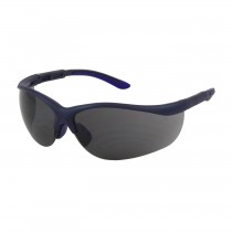 Hi-Voltage AC™ Semi-Rimless Safety Glasses with Blue Frame, Gray Lens and Anti-Scratch Coating  (#250-21-0101)