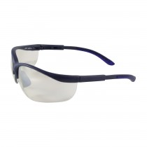 Hi-Voltage AC™ Semi-Rimless Safety Glasses with Blue Frame, I/O Lens and Anti-Scratch Coating  (#250-21-0102)