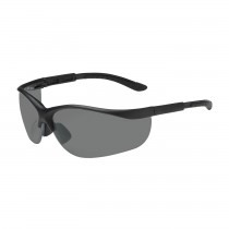 Hi-Voltage AC™ Semi-Rimless Safety Glasses with Black Frame, Gray Lens and Anti-Scratch Coating  (#250-21-0401)