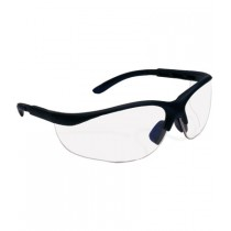 Hi-Voltage AC™ Semi-Rimless Safety Glasses with Black Frame, I/O Lens and Anti-Scratch Coating  (#250-21-0402)