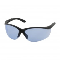 Hi-Voltage AC™ Semi-Rimless Safety Glasses with Black Frame, Light Blue Lens and Anti-Scratch Coating  (#250-21-0403)