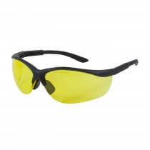 Hi-Voltage AC™ Semi-Rimless Safety Glasses with Black Frame, Amber Lens and Anti-Scratch Coating  (#250-21-0409)