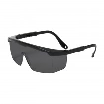 Hi-Voltage ARC™ Semi-Rimless Safety Glasses with Black Frame, Gray Lens and Anti-Scratch Coating  (#250-24-0001)