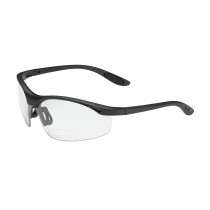 Mag Readers™ Semi-Rimless Safety Readers with Black Frame, Clear Lens and Anti-Scratch Coating, 1.00 Diopter  (#250-25-0010)