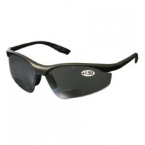Mag Readers™ Semi-Rimless Safety Readers with Black Frame, Gray Lens and Anti-Scratch Coating, 1.50 Diopter  (#250-25-0115)