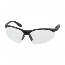 Double Mag Readers™ Semi-Rimless Safety Readers with Black Frame, Clear Lens and Anti-Scratch / Anti-Fog Coating, Dual 1.50 Diopter  (#250-25-1515)