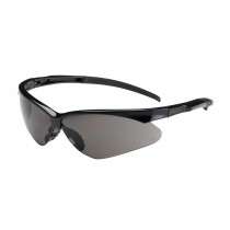Adversary™ Semi-Rimless Safety Glasses with Black Frame, Gray Lens and Anti-Scratch Coating  (#250-28-0001)