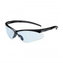 Adversary™ Semi-Rimless Safety Glasses with Black Frame, Light Blue Lens and Anti-Scratch Coating  (#250-28-0003)