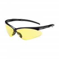 Adversary™ Semi-Rimless Safety Glasses with Black Frame, Amber Lens and Anti-Scratch Coating  (#250-28-0009)