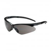 Adversary™ Semi-Rimless Safety Glasses with Black Frame, Gray Lens and Anti-Scratch / Anti-Fog Coating  (#250-28-0021)