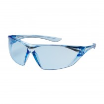 Bullseye™ Rimless Safety Glasses with Light Blue Temple, Light Blue Lens and Anti-Scratch / Anti-Fog Coating  (#250-31-0023)