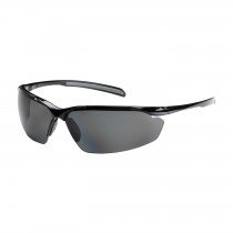 Commander™ Semi-Rimless Safety Glasses with Gloss Black Frame, Polarized Gray Lens and Anti-Scratch Coating  (#250-33-0041)