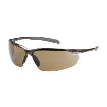 Commander™ Semi-Rimless Safety Glasses with Gloss Bronze Frame, Brown Lens and Anti-Scratch / Anti-Fog Coating  (#250-33-1024)