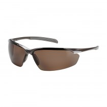 Commander™ Semi-Rimless Safety Glasses with Gloss Bronze Frame, Polarized Brown Lens and Anti-Scratch Coating  (#250-33-1042)