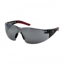 Q-Vision™ Rimless Safety Glasses with Black / Burgundy Temples, Silver Mirror Lens and Anti-Scratch / Anti-Fog Coating (#250-36-0025)