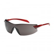 Radar™ Rimless Safety Glasses with Red Temple, Gray Lens and Anti-Scratch / Anti-Fog Coating  (#250-45-1021)