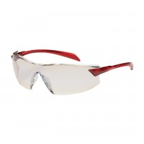 Radar™ Rimless Safety Glasses with Red Temple, I/O Blue Lens and Anti-Scratch / Anti-Fog Coating  (#250-45-1226)