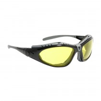 Fuselage™ Full Frame Safety Glasses with Black Frame, Foam Padding, Amber Lens and Anti-Scratch / Anti-Fog Coating  (#250-50-0429)