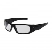 Squadron™ Full Frame Safety Glasses with Black Frame, Clear Lens and Anti-Scratch / Anti-Fog Coating  (#250-53-0020)
