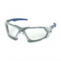 Fortify™ Rimless Safety Glasses with Gray Frame, Clear Lens, Foam Padding and Anti-Scratch / Anti-Fog Coating  (#250-54-0020)