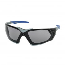 Fortify™ Rimless Safety Glasses with Gray Frame, Light Gray Lens, Foam Padding and FogLess® 3Sixty™ Coating  (#250-54-0551)