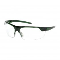 Xtricate-C™ Semi-Rimless Safety Glasses with Green Frame, Clear Lens and FogLess® 3Sixty™ Coating  (#250-58-0520)