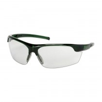 Xtricate-C™ Semi-Rimless Safety Glasses with Green Frame, Light Gray Lens and FogLess® 3Sixty™ Coating  (#250-58-0551)