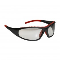 FlashFire™ Full Frame Safety Glasses with Black / Red Frame, Clear Lens and Anti-Scratch / Anti-Fog Coating  (#250-60-0020)