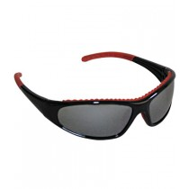 FlashFire™ Full Frame Safety Glasses with Black / Red Frame, Silver Mirror Lens and Anti-Scratch / Anti-Fog Coating  (#250-60-0628)