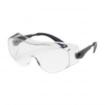 OverSite™ OTG Rimless Safety Glasses with Black / Gray Temple, Clear Lens and Anti-Fog / Anti-Scratch Coating  (#250-98-0020)