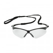 Anser™ Semi-Rimless Safety Glasses with Black Frame, Clear Lens and Anti-Scratch Coating  (#250-AN-10110)